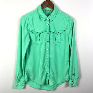 Anthropologie Holding Horses Snap Button Top